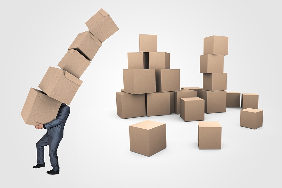 A person getting moving boxes.